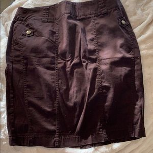 Dress Barn brown cotton skirt with pockets